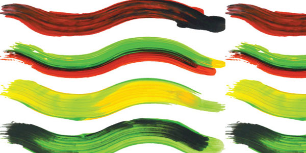 Multi-Colored Paint Brushes