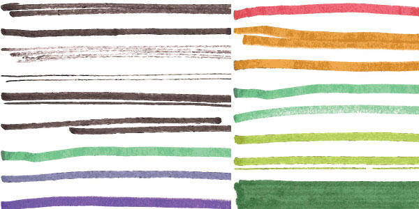 230 Marker Illustrator Brushes