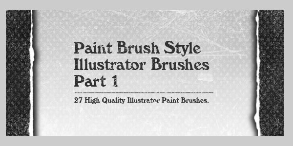 27 High Quality Paintbrush Style Illustrator Brushes Part 1