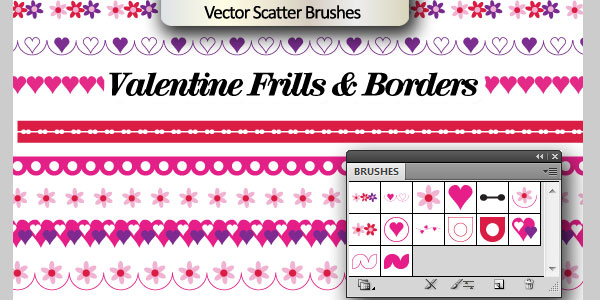 Valentine scatter brushes
