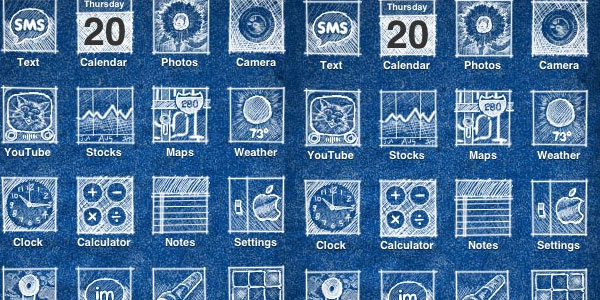 15 sexy iphone app icons iphone theme blueprint malvernweather Gallery