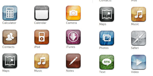 chalkwork 15 Free iPhone App Icons