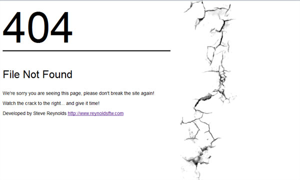 Custom 404 with jQuery and jQuery UI