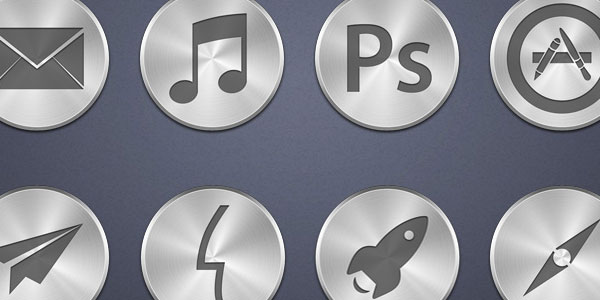 brushed metal 25 Cool MAC Icons