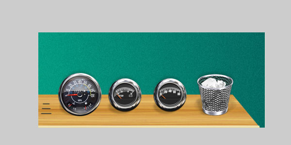 Old jeep dashboard icon set