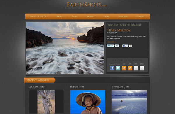 earthshots 20 Top Photography Websites