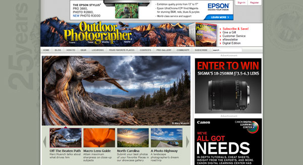 outdoorphotographer 20 Top Photography Websites