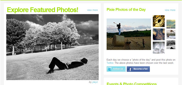 pixie 20 Top Photography Websites