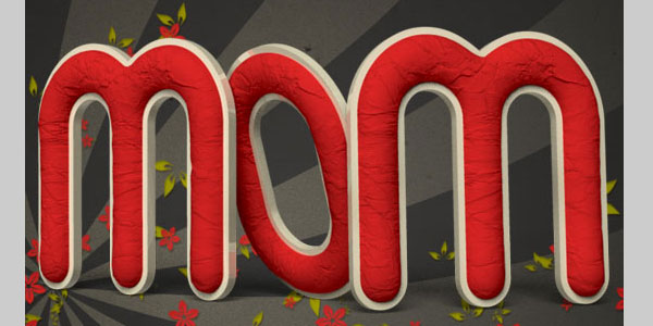 Crumpled Paper Textured 3D Text Effect In Photoshop CS5