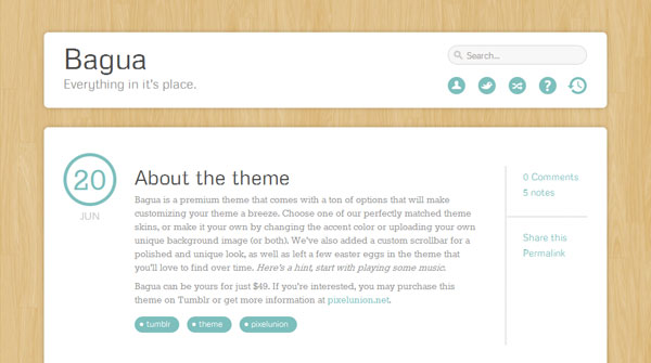 baguatheme 40 Awesome Tumblr Themes