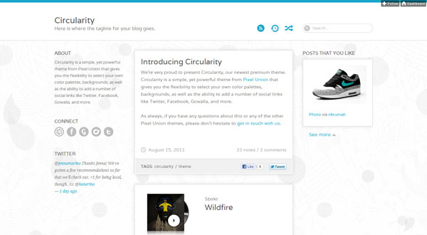 circularitytheme 40 Awesome Tumblr Themes