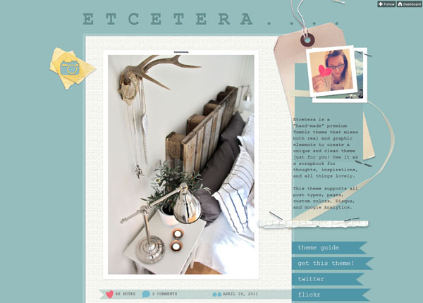 etceteratheme 40 Awesome Tumblr Themes