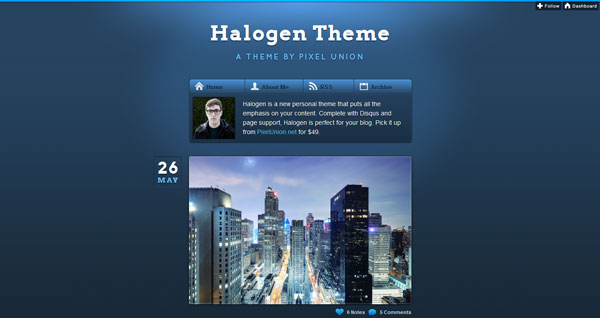 halogen 40 Awesome Tumblr Themes