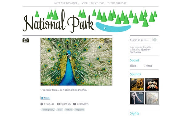 nationalparktheme 40 Awesome Tumblr Themes