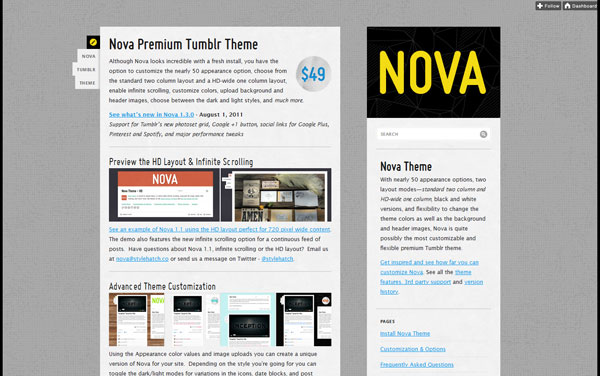 novatheme 40 Awesome Tumblr Themes