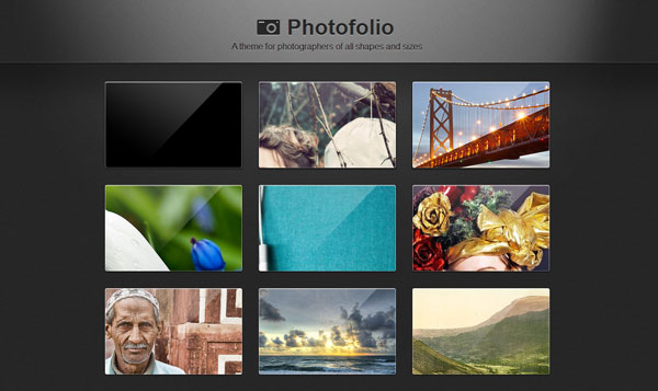 photofoliotheme 40 Awesome Tumblr Themes