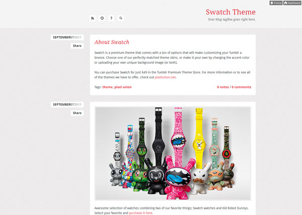 swatchtheme 40 Awesome Tumblr Themes