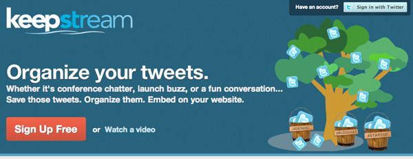 KeepStream – Build beautiful collections of Tweets