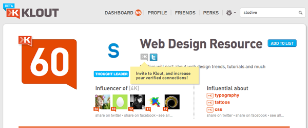 Klout for Chrome – Learn who is most influential