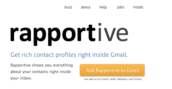 Rapportive – Get hooked on Twitter via email