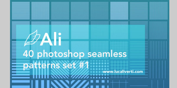 Ali 40 Photoshop seamless patterns set