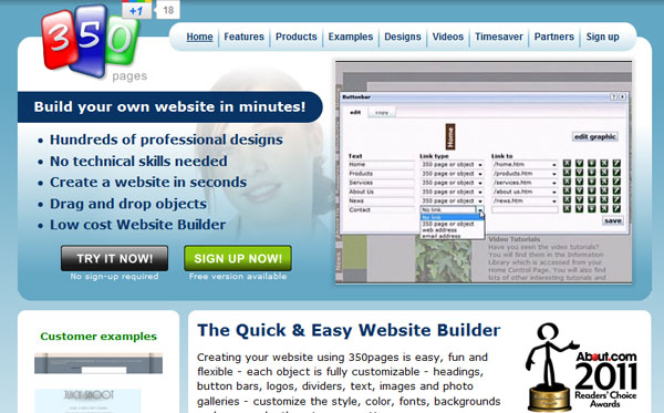 350 15 Top Free Website Builders