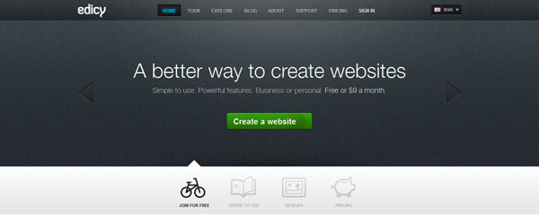 edicy 15 Top Free Website Builders