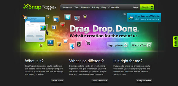 snappages 15 Top Free Website Builders
