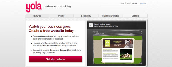 yola 15 Top Free Website Builders
