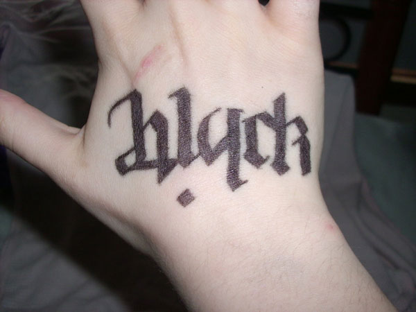 Ambigram Black - White