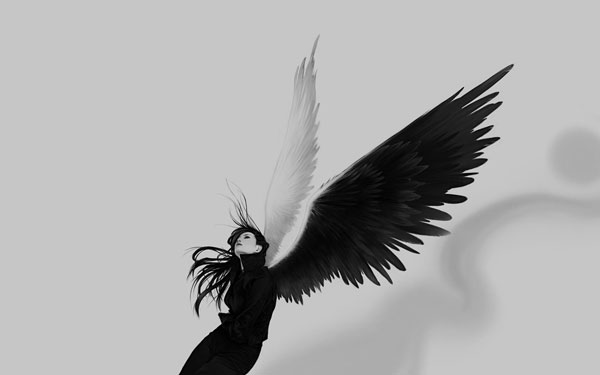 Black White Angel