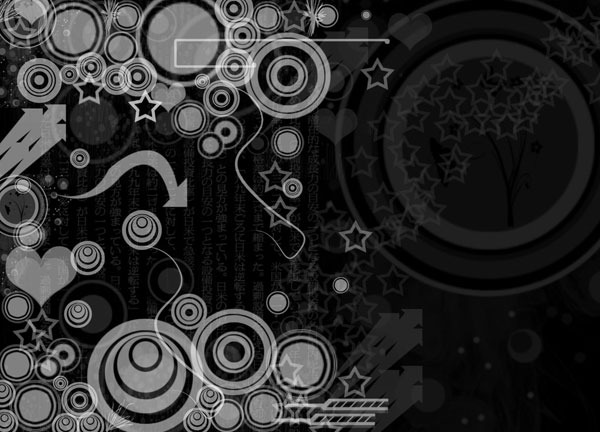 Black white vectors wallpaper