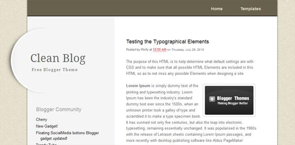 clean blog 25 Top Blogger Templates