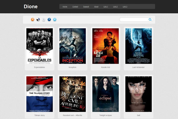 dione 25 Top Blogger Templates