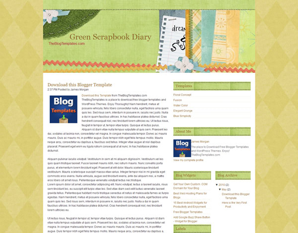 free blogger template 25 Top Blogger Templates