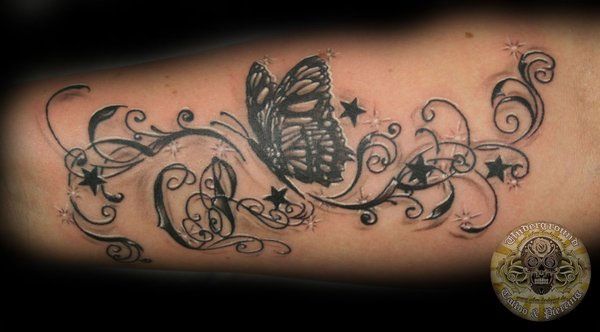 butterfly chicano 20 Sweet Designs For Butterfly Tattoos