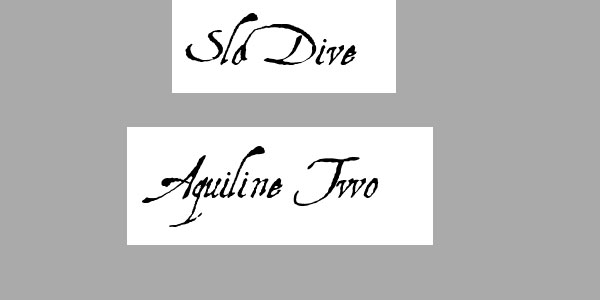 aquiline two 25 Best Calligraphy Fonts