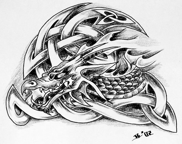 celtic dragon 20 Awesome Celtic Tattoos