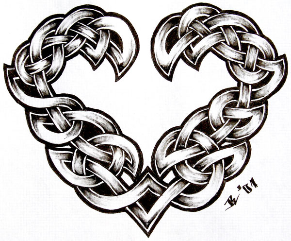 celtic heart 20 Awesome Celtic Tattoos