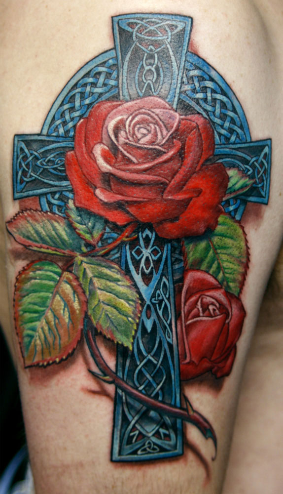 celtic rose 20 Awesome Celtic Tattoos