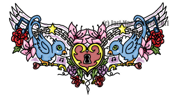Girlie Chest Tattoo Design