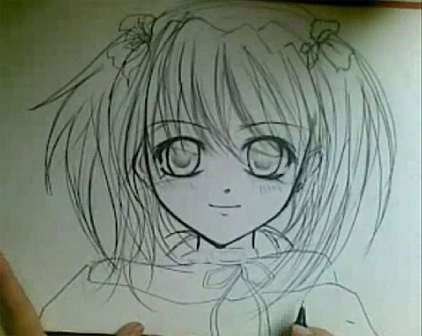 Step by step manga drawing