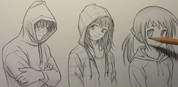 draw hoodies 15 Tutorials On How To Draw Anime