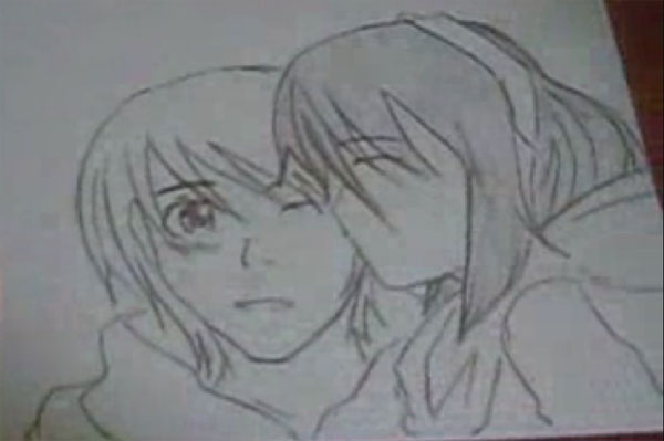 How to draw sweet couple anime