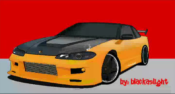 How to draw a car in ms paint