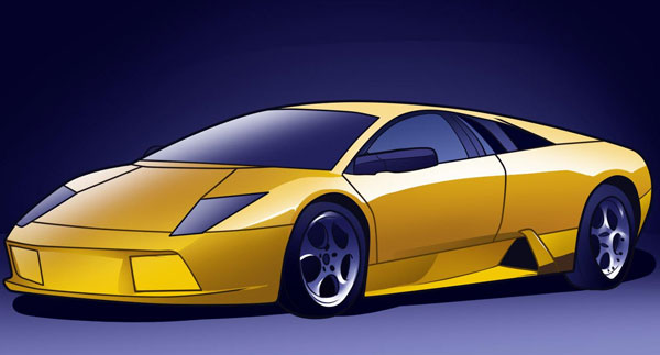 How to Draw a Lamborghini Murcielago