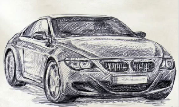 How to draw car BMW