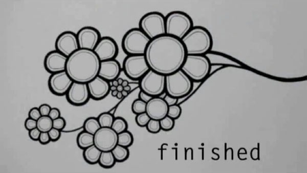 How to draw an awesome abstract flower with ink pen