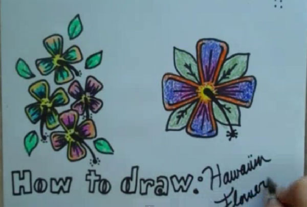 How To Draw: Hawaiian Flowers
