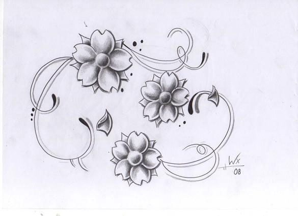 tattoo design flowers 15 Nice Flower Tattoo Designs